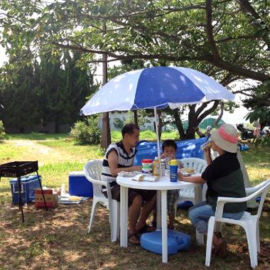 家族旅行の思い出に、三崎・城ヶ島の海の幸でBBQ!